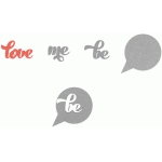 be me love - bubble overlays