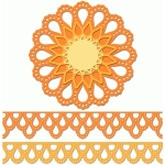 12 inch doily border set teardrop edge