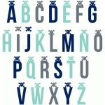 skull & crossbones pirate alphabet