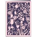 spring floral papercut 7x5 card