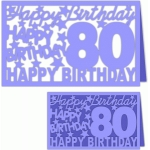 happy birthday 80 years card