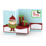 pop up box card christmas elf