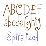 spiralized font