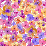 watercolor pansies pattern