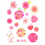 painted bright summer stickers