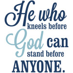 kneel before god