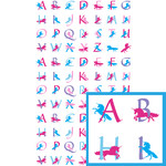 unicorn alphabet planner stickers