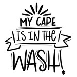 my cape is in the wash