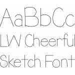lw cheerful sketch font