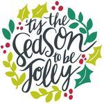tis the season hand lettered