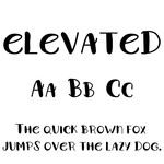 cg elevated font