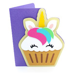unicorn cupcake card