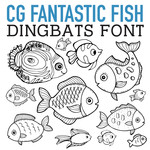 cg fantastic fish dingbats