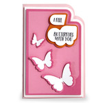 super layered butterfly card
