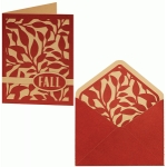 card envelope set leafy