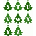 christmas tree alphabet s-z