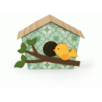 3d wide birdhouse