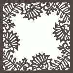 brocade tulip floral page frame 12 x 12