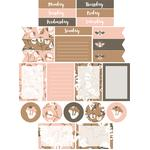 pink blooms planner stickers