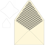 announcement style envelope with liner