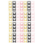 pink & gold short heart checklists