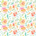 cute spring flower watercolor pattern