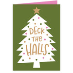 deck the halls christmas tree card