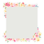 square flower frame