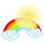 sunshine rainbow