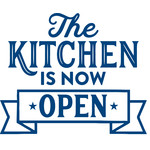 the kitchen is now open