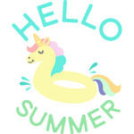 hello summer unicorn floatie