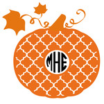 pumpkin arabesque monogram frame