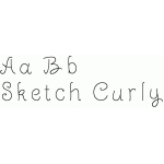 sketch curly font