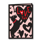 terrier valentine folded card