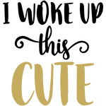baby t-shirt: woke up cute