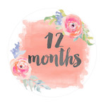 12 months onesie sticker
