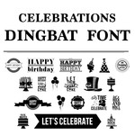 celebrations dingbat font