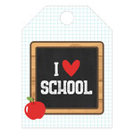 i heart school tag
