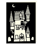 spooky haunted house card