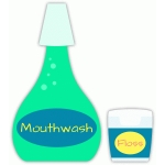 mouthwash and floss