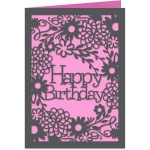 garden happy birthday 5x7 card