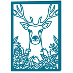 stag in flowers card