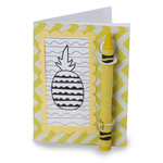 color and sketch book - pineapple