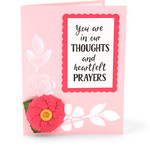 sympathy card thoughts and prayers