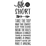 life is short - list phrase