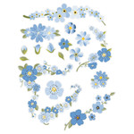 blue floral planner stickers