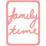 family time life card 3x4