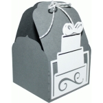 tag topper favor box - wedding cake