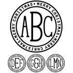 monogram type - merry christmas ring