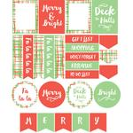 christmas plaid planner stickers